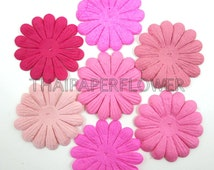 50 Pink Mixed Large Die Cut Paper Flowers Daisy Scrapbook Card Making Crafts Supply 00/P700