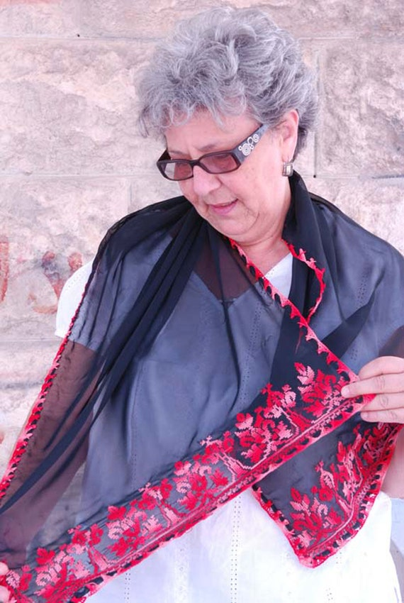 Palestinian embroidered shawl