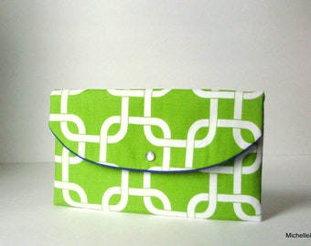 Lime green clutch- -bridesmaid gift- -mother of the bride- -wedding accessories