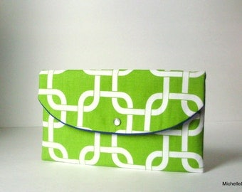 gifts ideas/green clutch/wedding party gifts/chartreuse clutch/blue green handbag