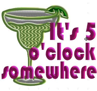 somewhere o'clock five its