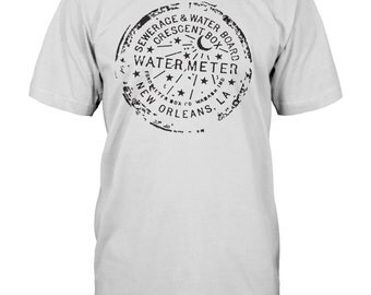 New Orleans Water Meter Cover - T-Shirt - Men's or Women's Cut