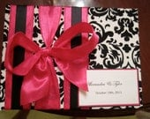 Black and Damask Wedding Guest Book