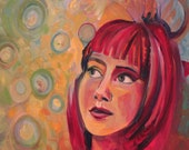 Looking up for Dreams.  ORIGINAL OIL PAINTING