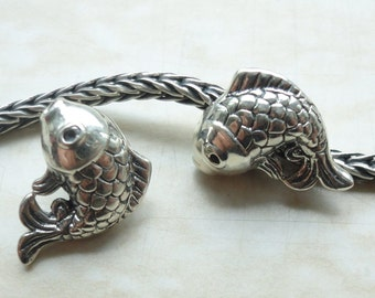 FISH - 925 Sterling Silver BHB Charm Fits All European Style Systems