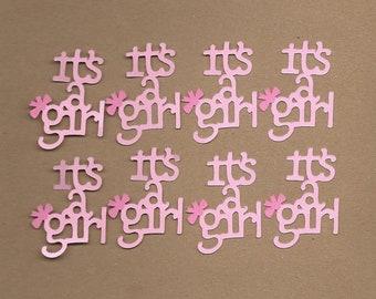 8- 2 inch Pink  It's A Girl Cricut Die Cuts