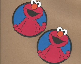 2- 4 inch Elmo Cricut Die Cut