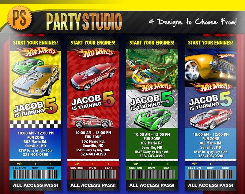 Hot wheels party – Hot Wheels Party Invitations