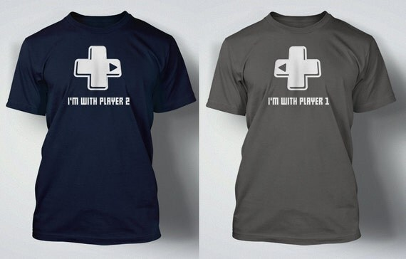 Funny Video Game T Shirt I 39 M With Player 1 Or 2 Tee