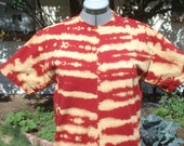 Red Bleach Dyed T-shirt Kids X-Large