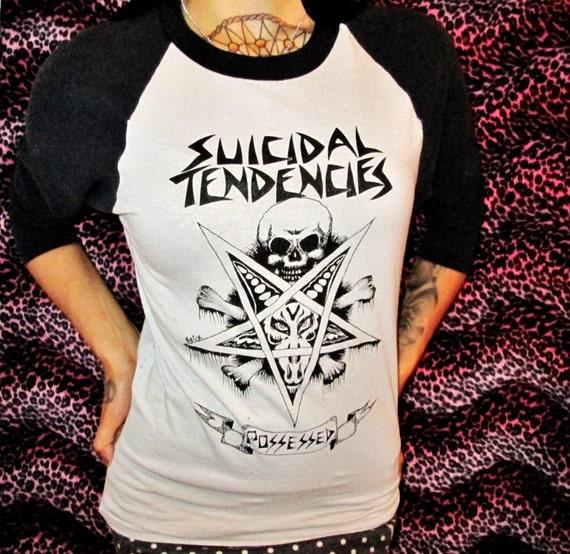 """Suicidal Tendencies """"Possessed"""" 3/4 Sleeve Baseball Shirt size Medium"""