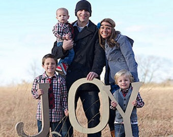 JOY, Home Decor, Wooden Wall Art, Wood Letters, Photo Prop, Family Pic