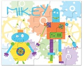 Personalized Robot Puzzle - Gifts for Boys- Kids Gift, Personalized Puzzles for Kids, Kids Personalized Puzzle