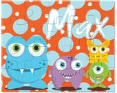 Personalized Monster Puzzle - Gifts for Boys, Personalized Puzzles for KidsKids Personalized Puzzle