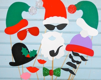 Christmas Photo Booth Props / Holiday photo booth props / Christmas Photobooth prop / Photobooth props/ Christmas Party