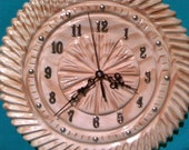 wall clock carved in wood