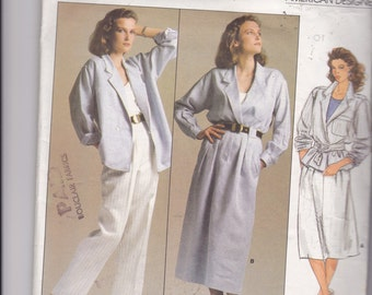 Vogue Pattern ANNE KLEIN American DESIGNER Original - Jacket, Skirt, Pants - Pattern # 1542 - Size 10, uncut patterns