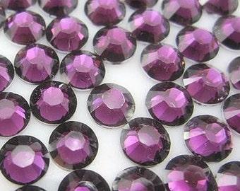 4mm 500  pieces Round Flat Back 14 facet cut Rhinestones  ----  Burgundy
