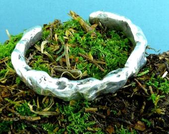 Sterling Silver Nugget Bracelet, Large