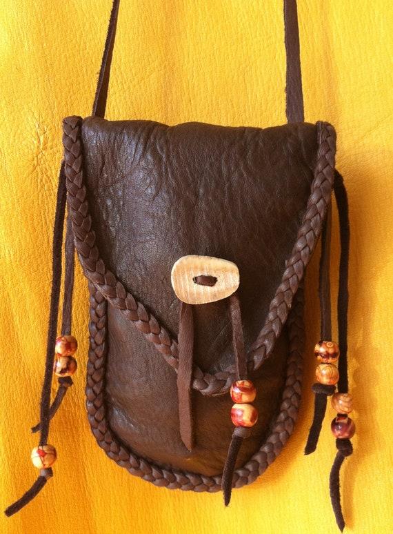 Handmade Leather Medicine Bags