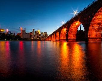 Orange Arches - Minneapolis, MN - Minneapolis Skyline Photography
