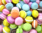 Dollhouse Miniature Food 20 Mixed Macaroons Bakery Art Deco Supply - 3608