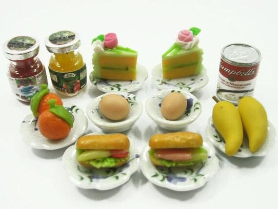 Dollhouse Miniature Food Beverage 4 Cappuccino Coffee Ceramic Set Supply - 6827