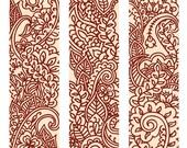 Mehndi/Henna Tall Ornaments - Printable Digital Sheet