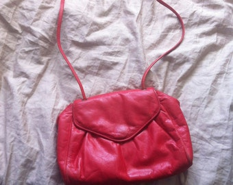 1980's Red Leather Purse