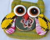 Mini Owl Zipper Owl Purse Wallet Green