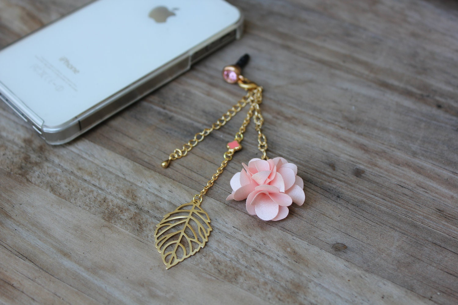handmade cell phone charm japanese kawaii jewelry flower