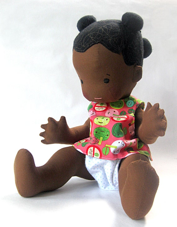 """Naomi- 18"""" Vintage Inspired Cloth Baby Doll"""