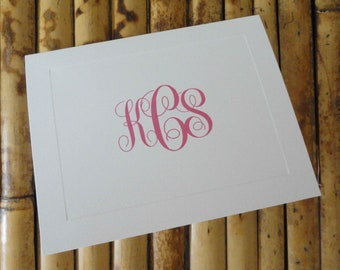 Monogrammed Folded Notes - Set of 20