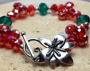 Christmas Cluster bracelet