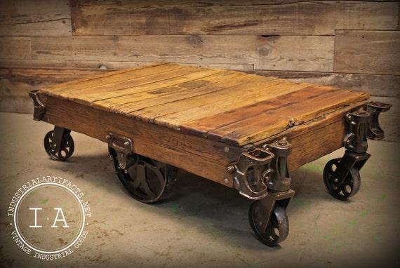 railway cart coffee tables 2