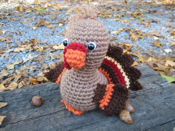 Amigurumi Stuffing : Crochet Turkey Amigurumi Stuffed Turkey by CROriginals on Etsy