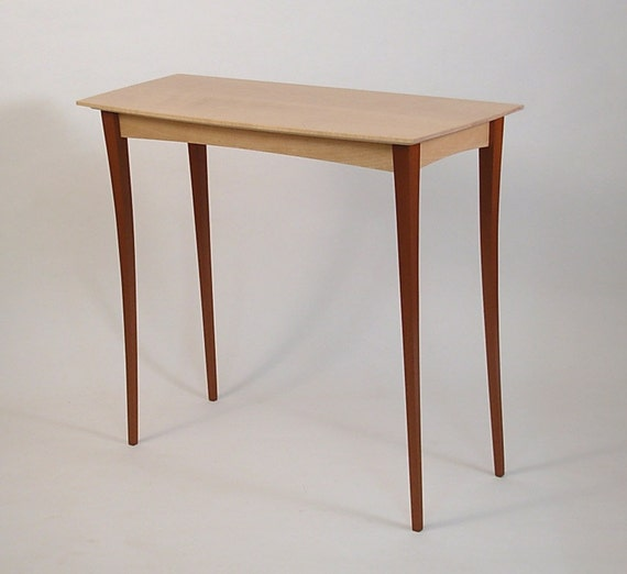 Maple and Mahogany Stiletto Hall Table