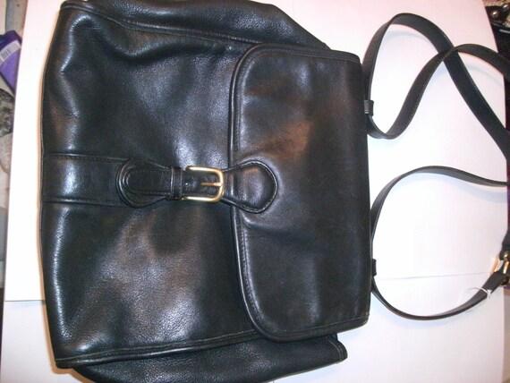Retro Coach 4191 Messenger Bag Black Leather 80s Classic
