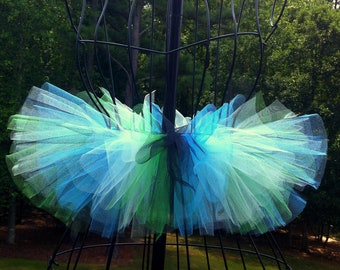 Addison Tutu - Rave Tutu - Emerald Green, Blue and Black - Available in Infant, Toddlers, Girls, Teenager, Adult and Plus Sizes
