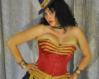 Steampunk Wonder Woman Cosplay Costume: Full Custom