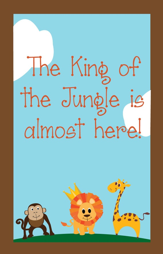 Items similar to personalized jungle baby shower sign gate for Baby shower party junge