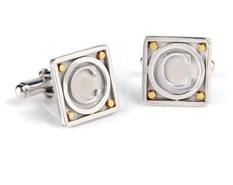Monogram Cufflinks great Groom's Gifts and Father's Day gift