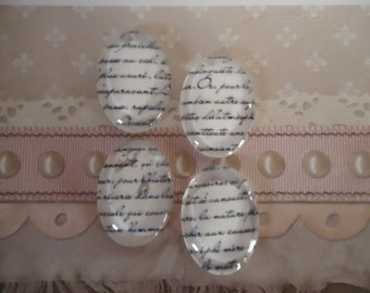 French Script Magnets (set of 4)