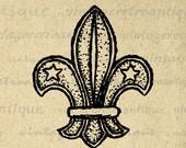 Digital Printable Fleur-de-lis Symbol Download Fleurdelis Graphic Fleur De Lis Image for Transfers Pillows HQ 300dpi No.981