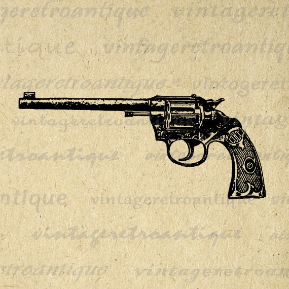 Gallery Western Revolver Gun Drawing