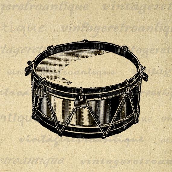 Digital Printable Snare Drum Image Music Download ...