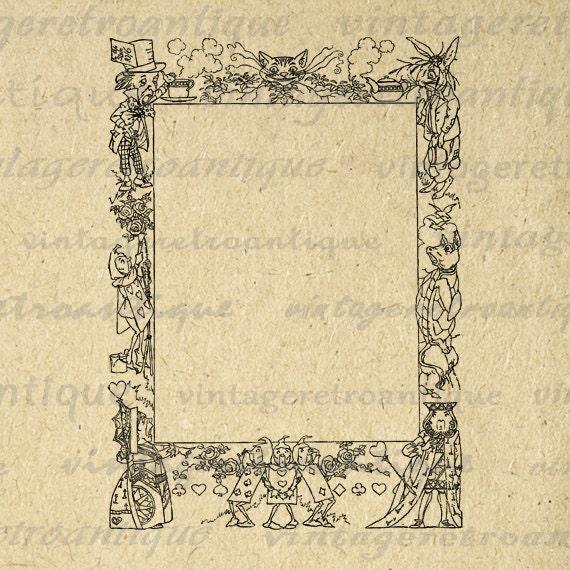 Printable Graphic Alice in Wonderland by VintageRetroAntique