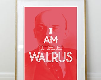 I Am The Walrus // Big Lebowski Quote Poster // Film Print // 11 x 17 // A3 // RIBBA 290 x 390mm