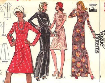 1970's Vintage Very Easy Vogue Pattern 8615, Size 12, Misses' Dress, Tunic and Pants