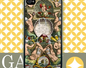 iPhone 4s Case, iPhone 4 Case, iPhone Case, Antique Book Page